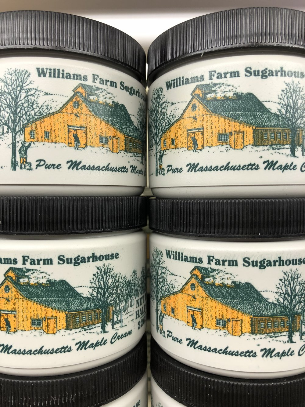 Maple cream from Williams Farm in Deerfield, Massachusetts is delicious! Try it on toast or with a spoon.