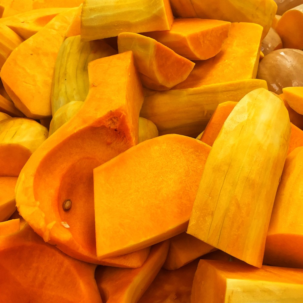 Organic locally grown Butternut Squash on special at Russo's