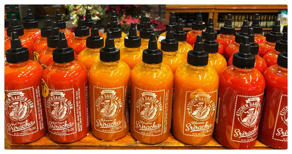 Massachusetts-made organic Sriracha makes a delicious stocking stuffer!