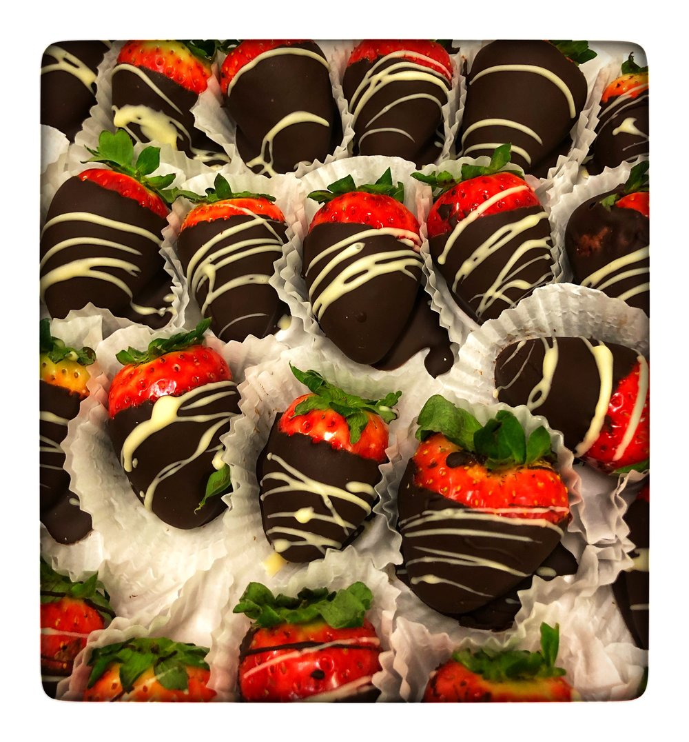 Hand-dipped chocolate strawberries from Russo's are perfect for a New Year's treat.