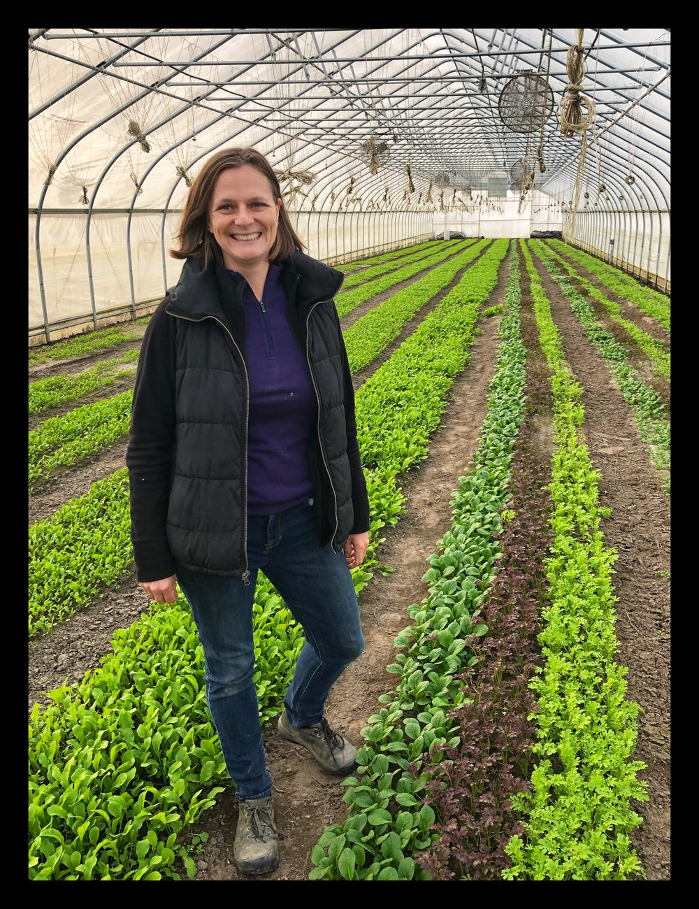 Caroline Pam at her farm Kitchen Garden Farm in Sunderland. She will be at Russo's on Saturday.