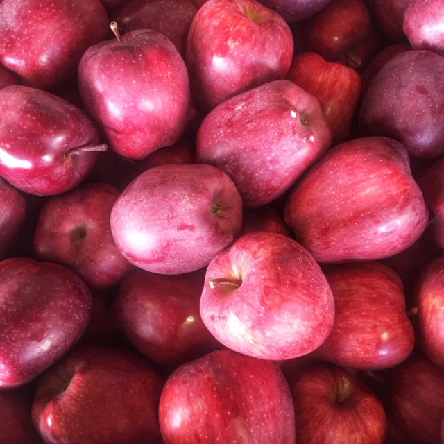 Organic apples on special at Russo's
