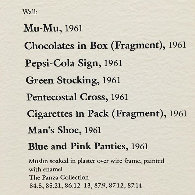 Claes Oldenburg's Packing List