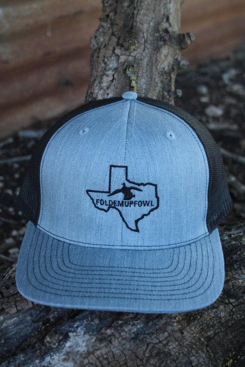 FoldemupFowl Precurved Bill Trucker Hat - Richardson 112 Adjustable  Snapback. Precurved Bill. Heather Grey ... bac487ff595