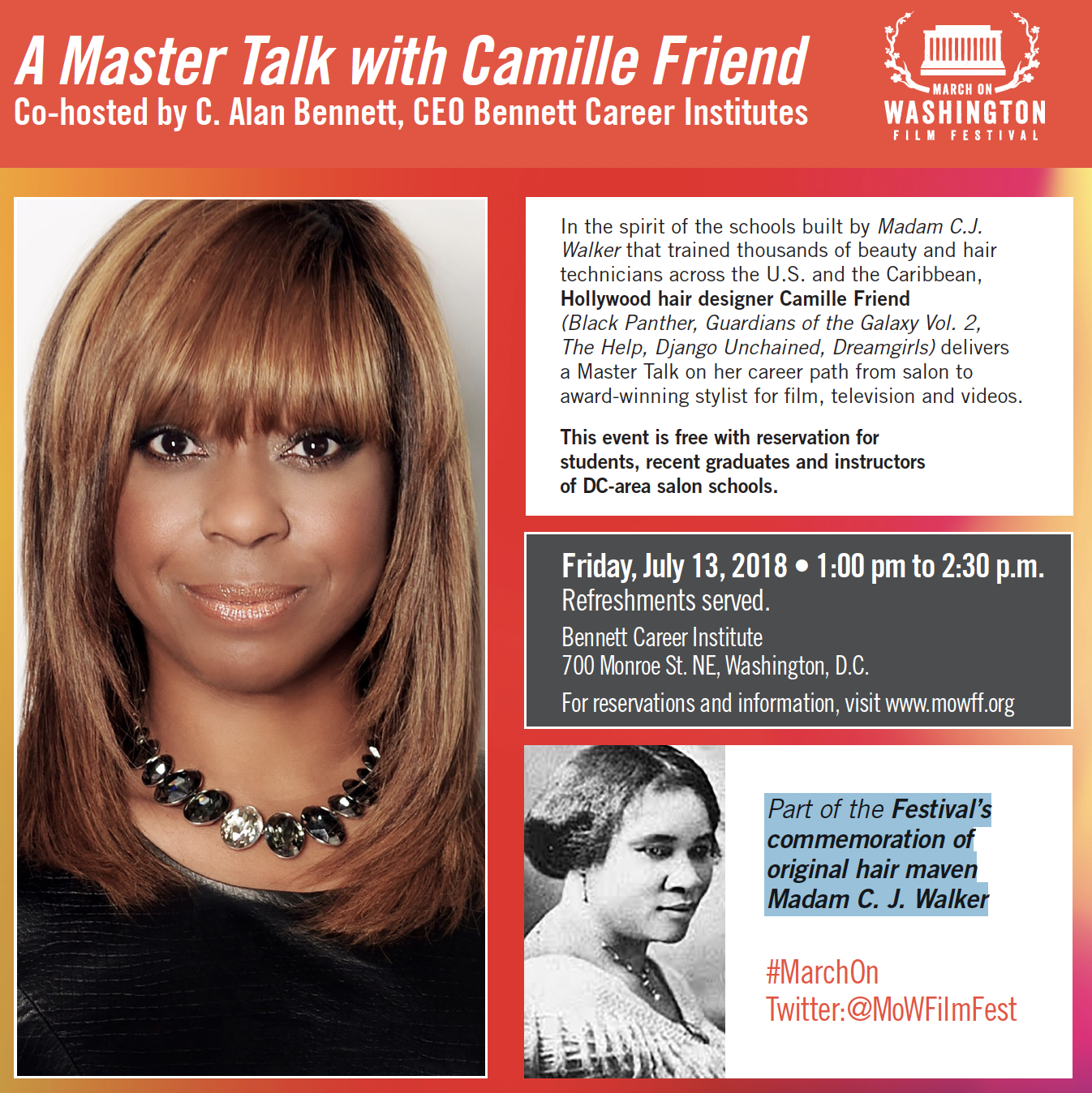A Master Talk With Camille Friend March On Washington Festival