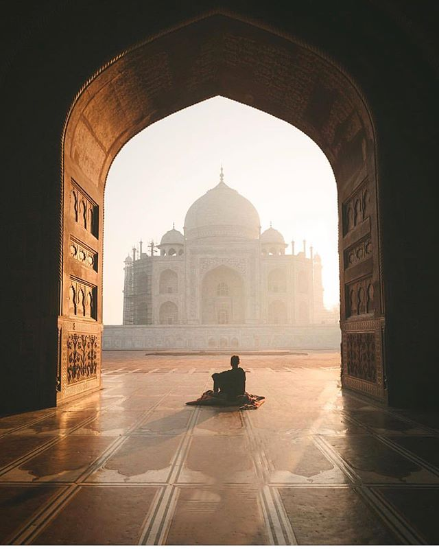 I've never experienced anything like it... The Taj Mahal. Breathtaking, peaceful, and awe inspiring. Episode 7 in India is live tomorrow!