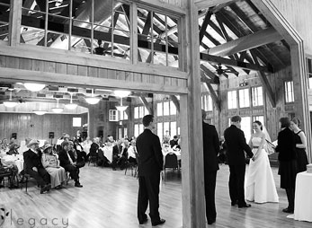 A memorable wedding ceremony at the auditorium at Sylvan Lake Lodge in Custer State Park