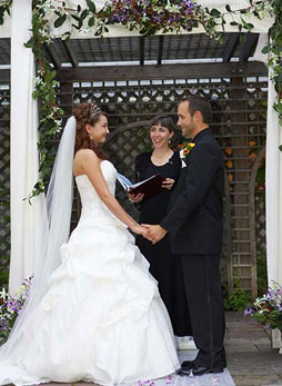 A romantic wedding ceremony at Ruby's Garden in Spearfish