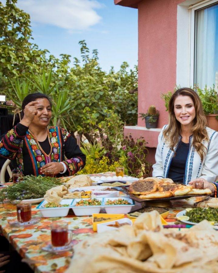Ilham avec Sa Majesté la Reine Rania de Jordanie.