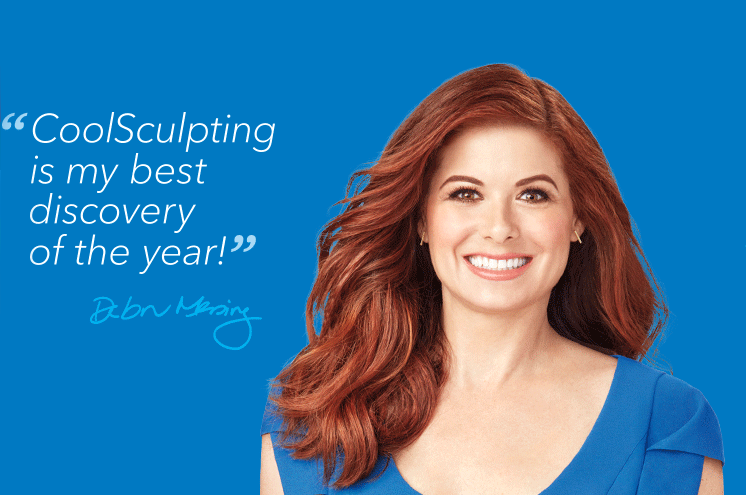 Debra Messing testimonial to the CoolSculpting treatment
