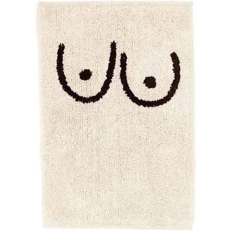 Boobie bath mat