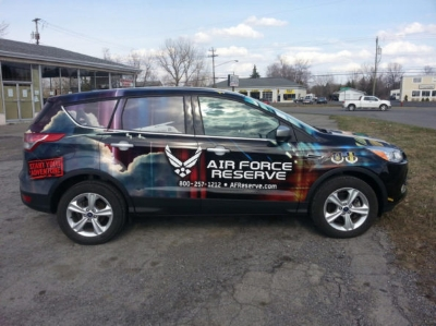 Full Air Force Reserve Vehicle Wrap