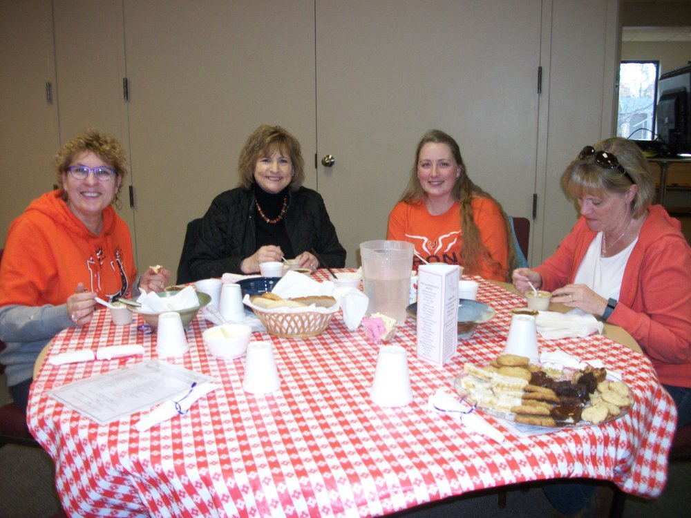 Counselors from Billings Senior High School enjoy an early dinner.  This group of coworkers are our guests each year!