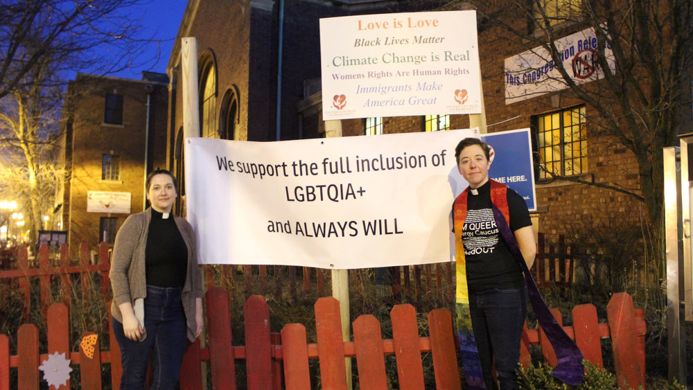 Pastor Lindsey Long Joyce [left] and Pastor Britt Cox [right] are taking a stand against their national denomination and its exclusion of LGBTQ people from marriage and ordination.