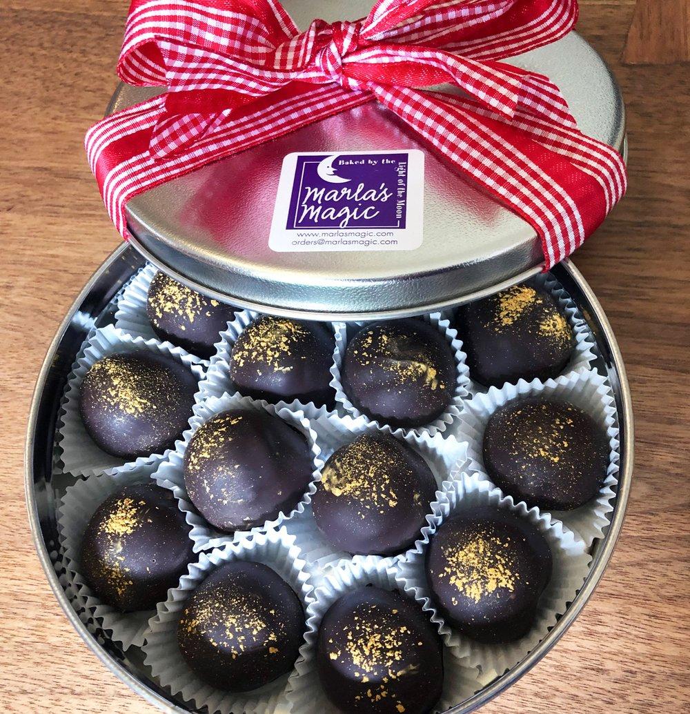 CHOCOLATE CAKE TRUFFLES  For more information: orders@marlasmagic.com