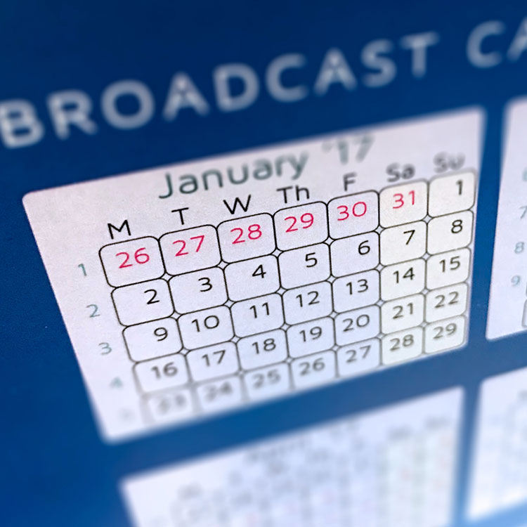picture of a broadcast calendar