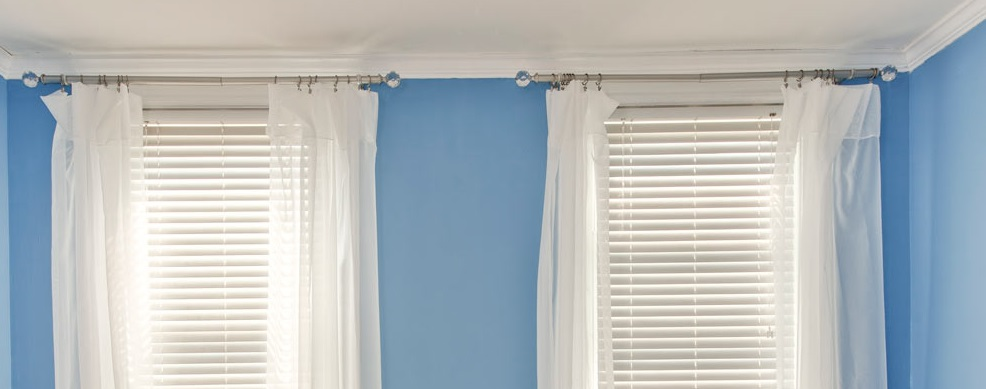 Rod pocket JC  Penny drapes hung with clip rings