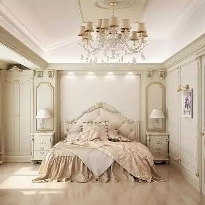 Traditional Glam Bedroom designed by Antonovich Design