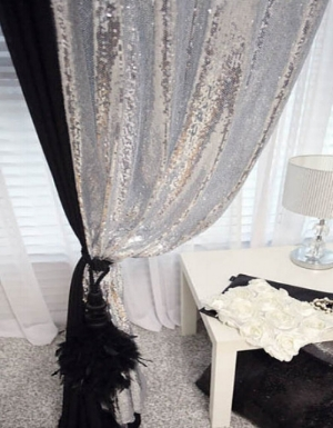 11.Drapes that sparkle-glamorous sequined drapes curtain-decorateur chic-glam style.jpg