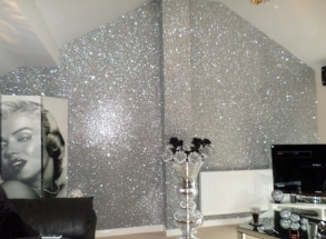 30. Glitter wallpaper. how to add glamour to your homejpg