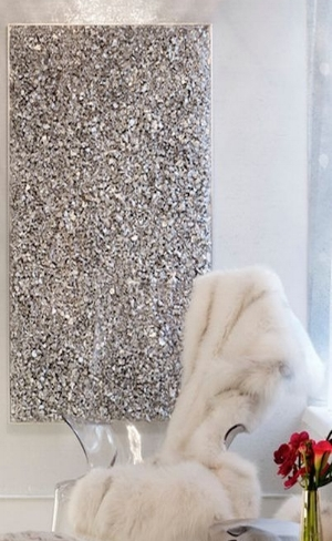 52. Sequin wall art-glam style art-interior design.jpg