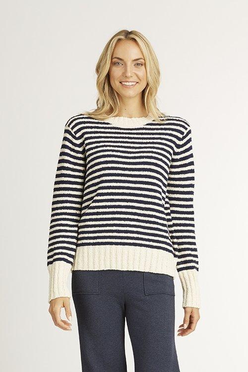 88f593900 Striped Boucle Sweater — O O L O O P
