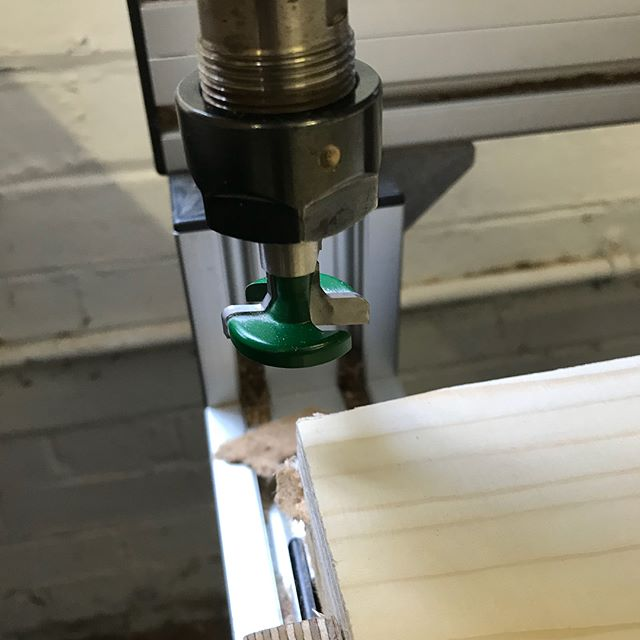 Today we have been experimenting with a new cutter. The trend Slat wall cutter for a large shop fitting job. After a trial run, it cuts so smooth, I love the simplicity of the groove and the hangers! I've a feeling that the workshop might be getting some slat wall too! #maker #cnc #cncmachining #plywood #shopfitting #wisaply #plywoodfurniture #manufacturing #trend #trendrouting #trendroutingtechnology #cuthousecnc