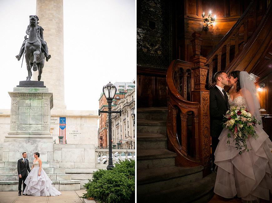 Wedding portraits in Mount Vernon Baltimore