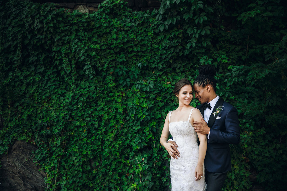 Bride and groom in Washington DC wedding