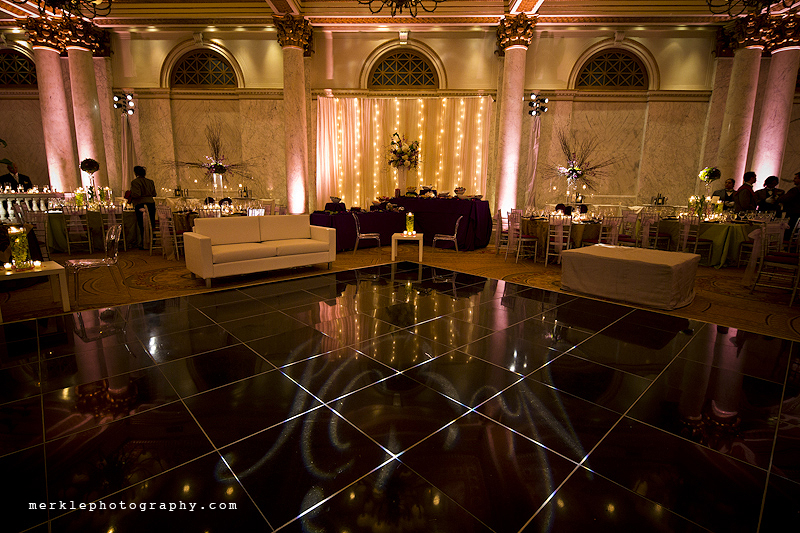 Dance floor at Baltimore Grand wedding