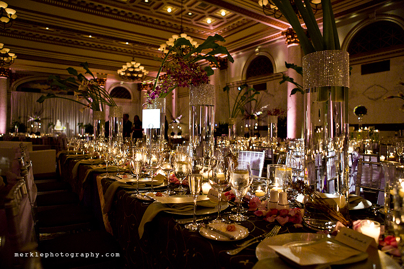 Amazing wedding reception decor at the Baltimore Grand