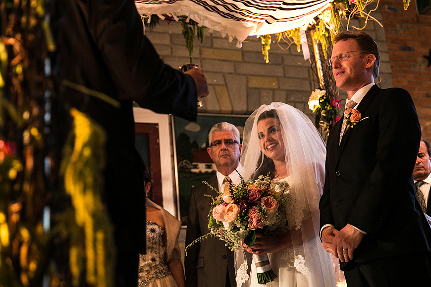 Bride and groom under Chuppah at American Visionary Arts Museum wedding in Baltimore