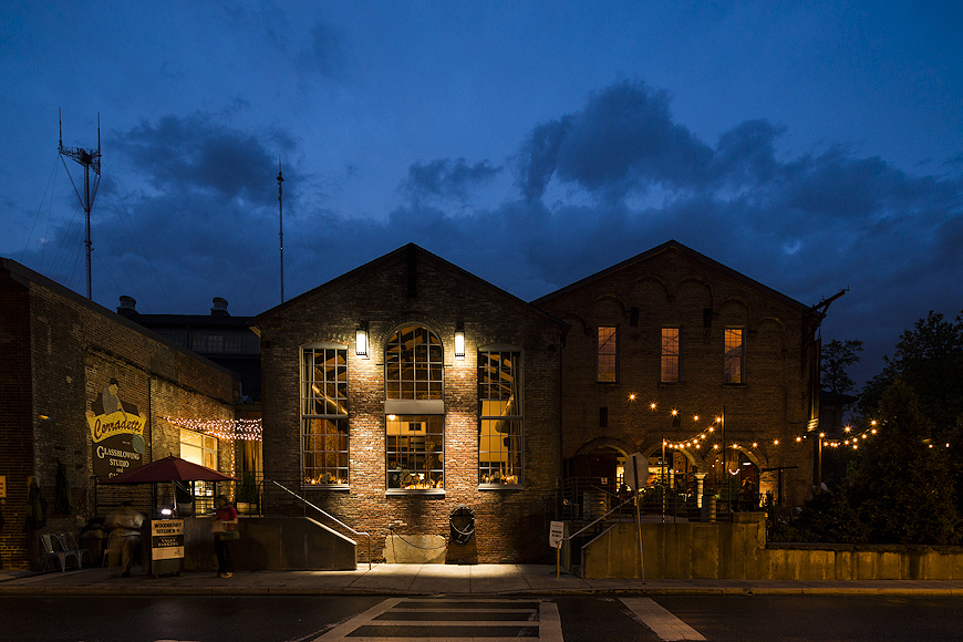 Woodberry Kitchen at night, Baltimore, Maryland