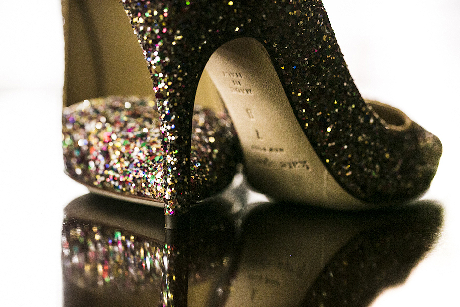 Sparkling Kate Spade wedding shoes