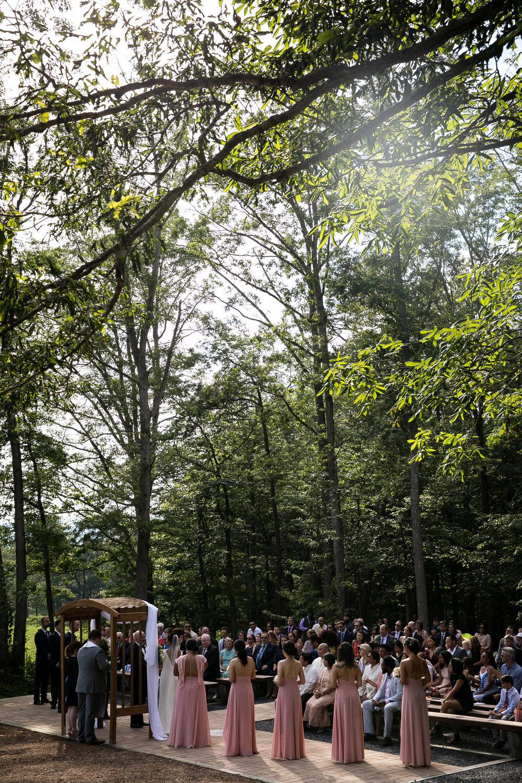 Wedding Ceremony at Shenandoah Woods, Virginia