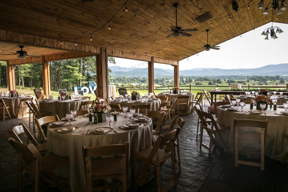 Wedding Reception Details, Shenandoah Virginia