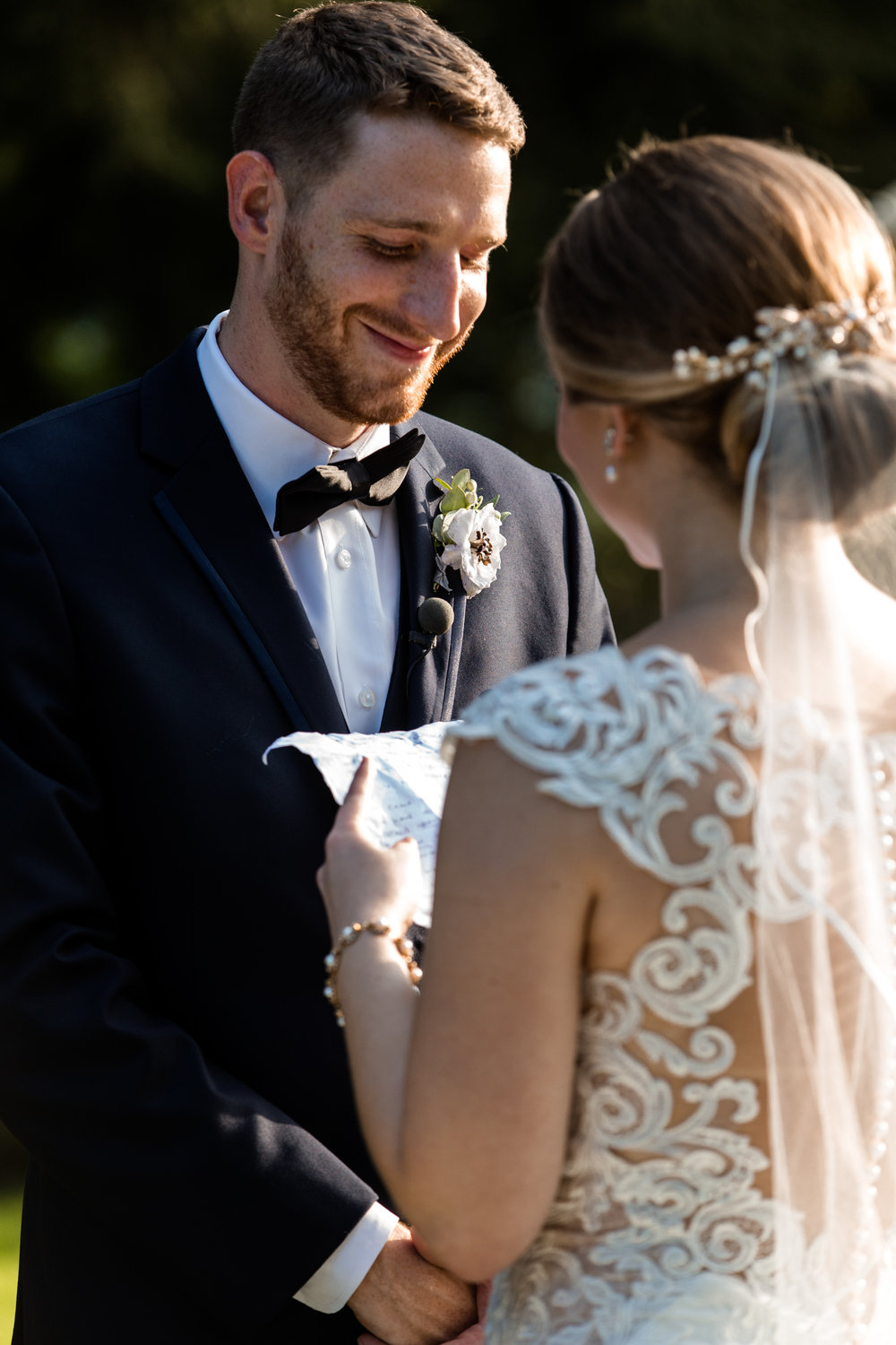 Wedding couple exchanging vows, Baltimore Wedding Photography