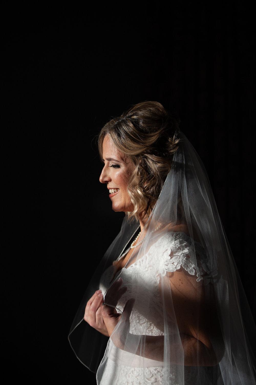 Bridal portrait with shadows, St. Regis Hotel Washington DC