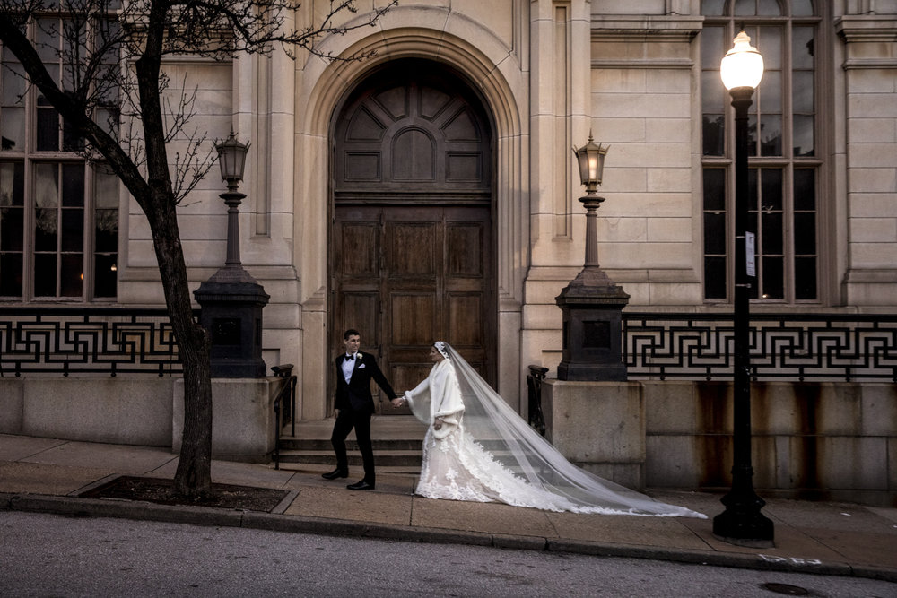 Wedding portrait in Mount Vernon Baltimore