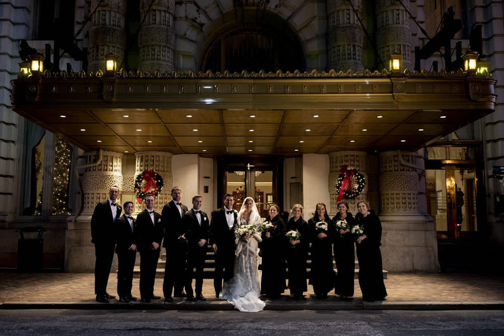 Bridal Party Photo at the Belvedere Hotel Baltimore