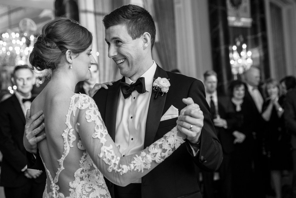 Bride and Groom, First Dance, Belvedere Hotel Baltimore