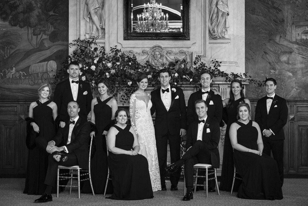 Wedding formal photo at the Belvedere Hotel in Baltimore, Maryland