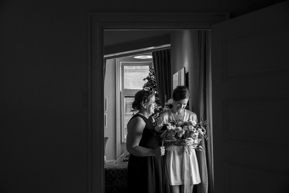 Bride getting ready at the Ivy Hotel Baltimore
