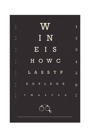 Wine Lover Eye Chart Poster I Give Cool Gifts
