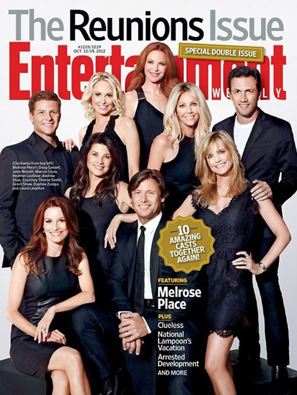 The cast of Melrose Place for Entertainment Weekly