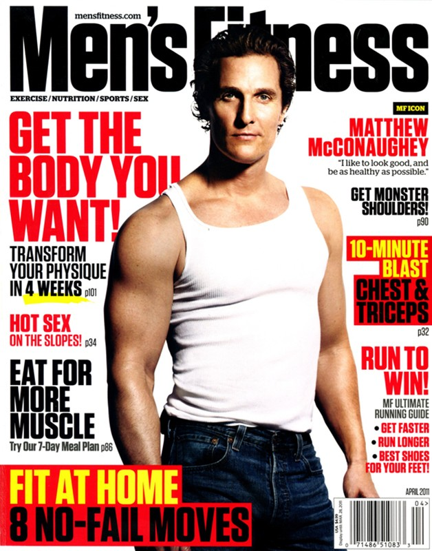 Matthew McConaughey for Men's Fitness