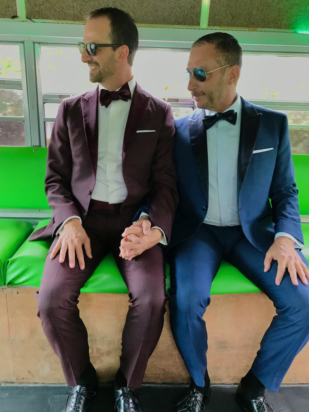 Custom tuxedos for besties wedding!