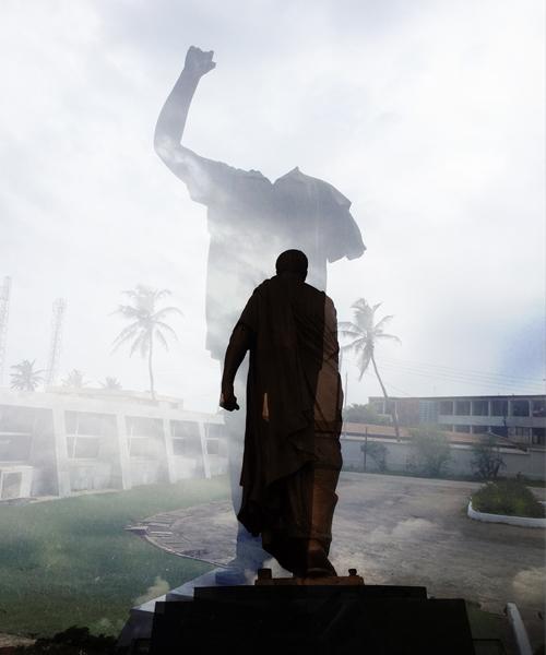 """2018 Winning photo: """"Nkrumah Never Dies"""" by Hakeem Adam"""
