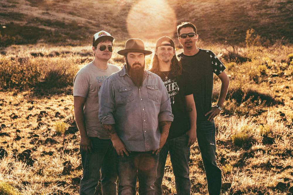 CLICK TO DOWNLOAD HIGH RESOLUTION IMAGE   The Cole Trains: Patrick James (bass), Shane Britt (vocals, guitar), TJ Taylor (vocals, guitar), Tad Jacobson (drums)