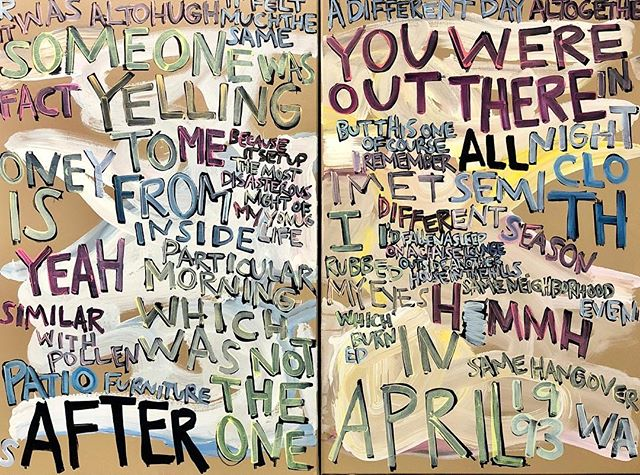 """After All."" #words #matthewspecktor #mixedmedia #rachelkice #americanartmachine #americandreammachine"